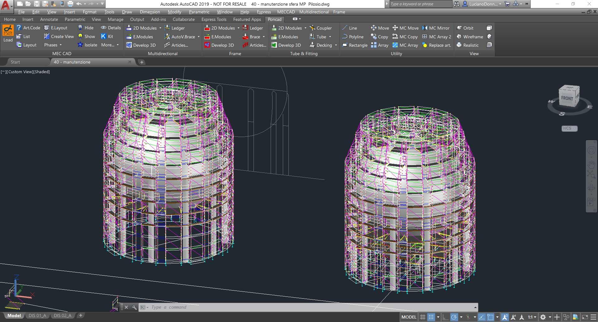 Software per la progettazione il calcolo e il disegno dei for Progetti in 3d gratis