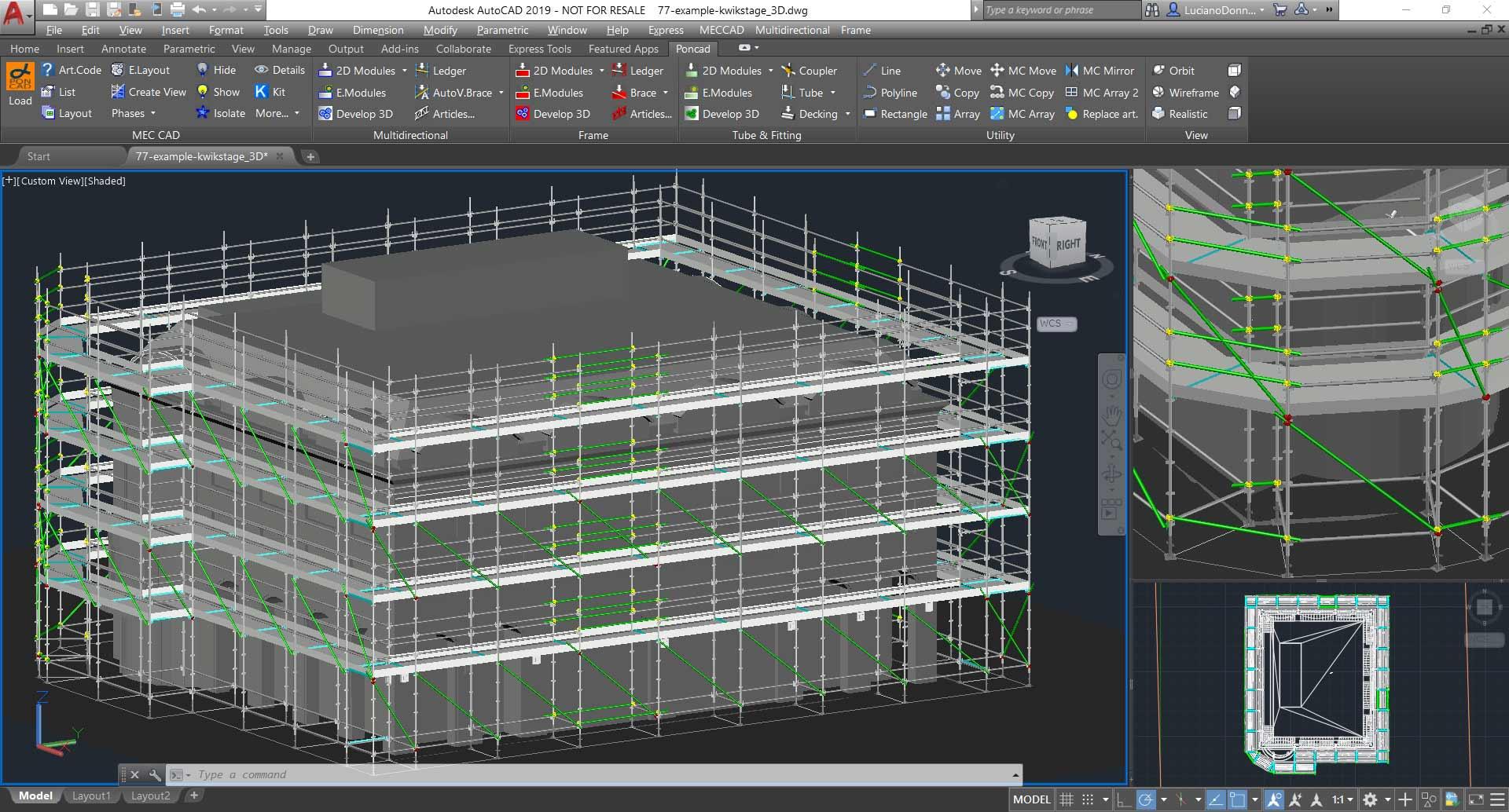 Software per la progettazione il calcolo e il disegno di for Disegno 3d free