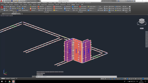 For Cad progetto casseforme 3d e 2d