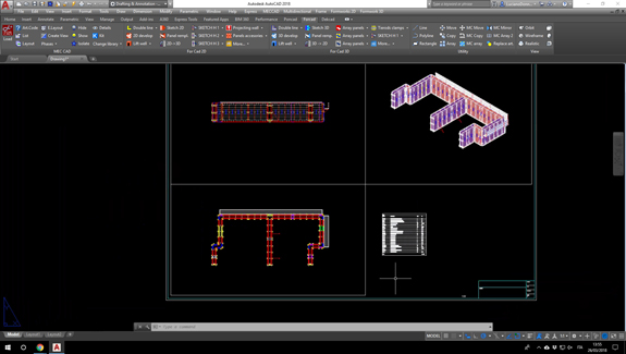 For Cad casseforme layout di stampa