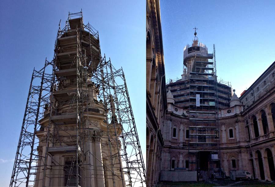 Ponteggio per la cupola di S.Ivo di Roma realizzato con Pon Cad