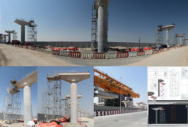 Scala d'accesso per Metro Dubai realizzato con Pon Cad