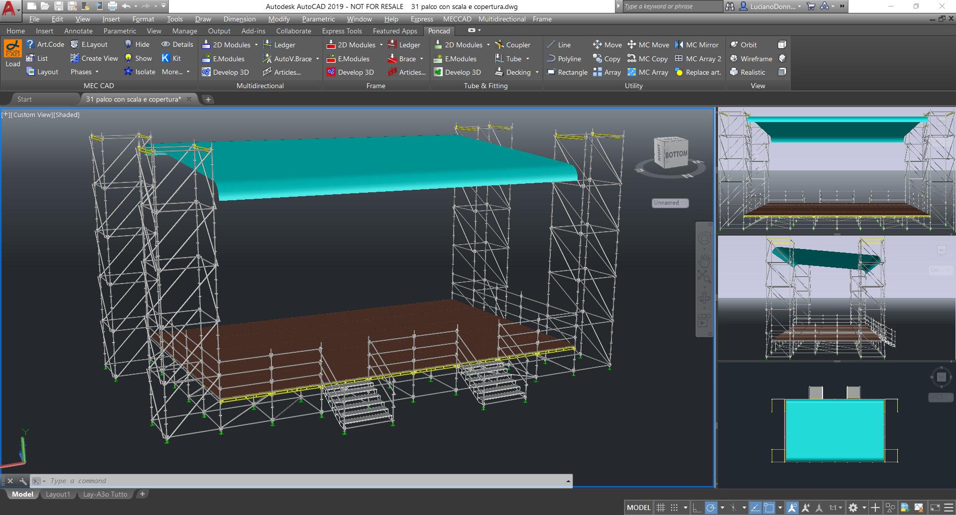 Programmi per palchi tribune coperture torri regia for Programmi rendering 3d
