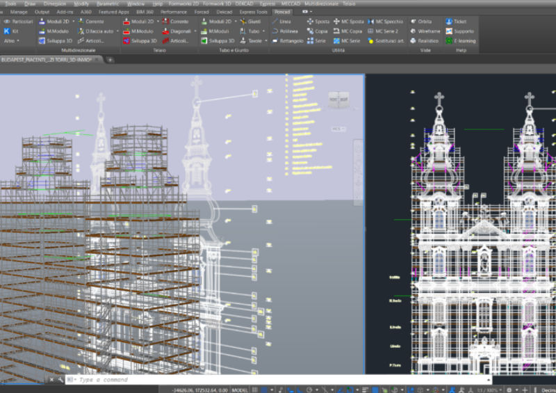 ponteggio multidirezionale manutenzione costruzione