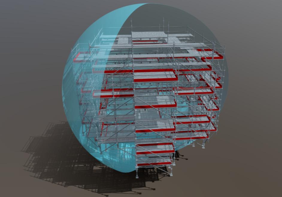ponteggio serbatoio sferico